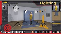 Learn portrait lighting with 3D software.  Studio Lighting Tutorial with...