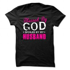 Blesses by god Blesses by god spoiled by my husband - #t shirts design #long hoodie. MORE ITEMS => https://www.sunfrog.com/LifeStyle/Blesses-by-god.html?60505
