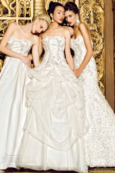 yumi katsura bridal 2013 strapless wedding dresses