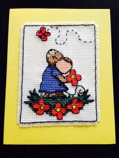 Mothers' Day Cross Stitch Card made by me