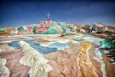 Salvation Mountain near the Salton Sea, California