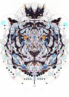 Electro Animals, Colorful Circuit-Like Illustrations of Wild Animals