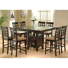 Coaster Mix & Match 9 Piece Counter Height Dining Set - Coaster Fine Furniture