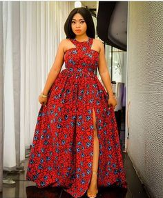 Unique Maxi Ankara is the most trending Ankara Styles for the Ladies to showcase how Unique they are. African Dresses For Kids, African Maxi Dresses, Latest African Fashion Dresses, African Print Fashion, African Attire, Africa Fashion, Ankara Maxi Dress, Ankara Dress Styles, Ankara Gowns