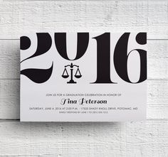 Law School Graduation Party Invitation by EdenCreativeStudio