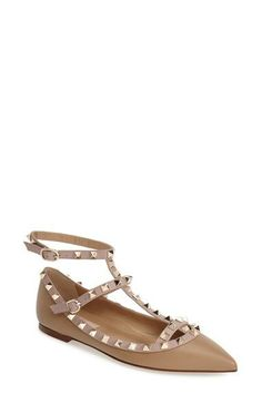 af3637278175 Valentino  Rockstud  T-Strap Flat available at  Nordstrom  HouseShoesWomens  Trail Shoes