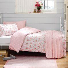 Walls, bedding, bed frame