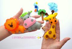 Tiere für Kinder fühlte sich Magnete  Preis von LADYBUGonCHAMOMILE