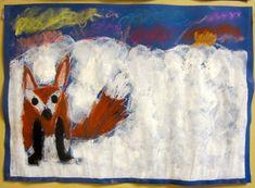 OpenIdeat: Eläinten talvi - kettu 5/6 Winter Project, Kindergarten Art, Elementary Art, Children, Kids, Snowman, Art Projects, Diy Crafts, Drawings