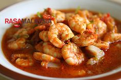Sambal Udang (Prawn Sambal): I liked it, but hubby didn't think it was very flavorful.