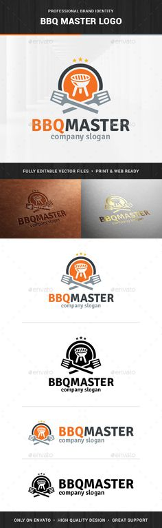 BBQ Master Logo Template — Vector EPS #meat #vector • Available here → https://graphicriver.net/item/bbq-master-logo-template/13476376?ref=pxcr