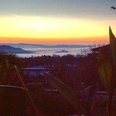 Nebbia di Natale e l'alba di un nuovo giorno sul lago Maggiore che volete di più?  #fog #sunrise #landscape #skyline #Nebbiuno #lake #lagoMaggiore