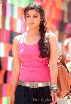 Alia Bhatt Side Braid Hairstyle