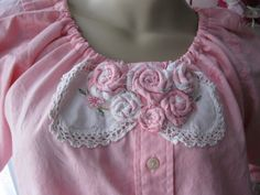 Pink Shabby Chic Upcycled Men's Shirt by vintageroseboutique1, $30.00