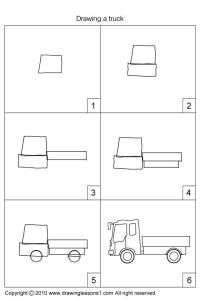 how to draw a big rig