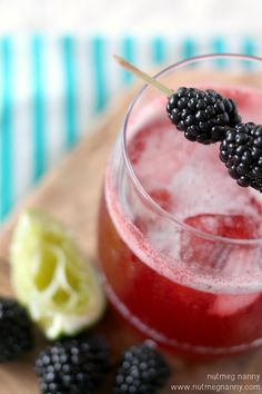 Blackberry Gin & Tonic by Nutmeg Nanny