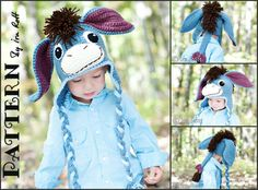 Funky Donkey Hat with Detachable Tail   Fashion Crochet Design by Ira Rott on Craftsy.