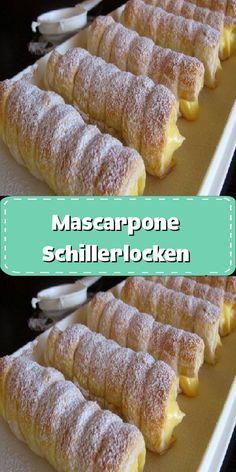 Strudel, Bread Dough Recipe, Fluff Desserts, Wonderful Recipe, Croissants, Something Sweet, Sweet Bread, Delicious Desserts, Food And Drink