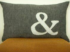 Ampersand pillow | Habitationic