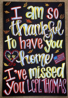 Military Homecoming Chalkboard Sign / Deployments Over / Welcome Home / Support the Troops / Surviving Deployment / Milso / Armed Forces / to see more projects or to order, check our www.facebook.com/charlestonchalkchick or email at charlestonchalkchick@gmail.com