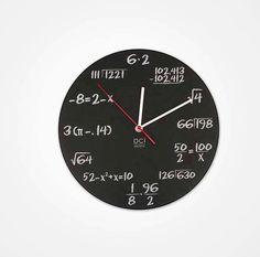 Math & Science clock
