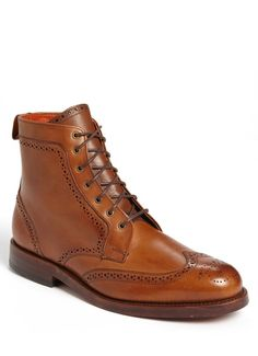 $425, Tan Leather Boots: Allen Edmonds Dalton Boot. Sold by Nordstrom. Click for more info: https://lookastic.com/men/shop_items/14506/redirect