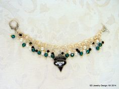 NFL New York Jets Swarovski Charm Bracelet by SDJewelryDesign16, $28.00
