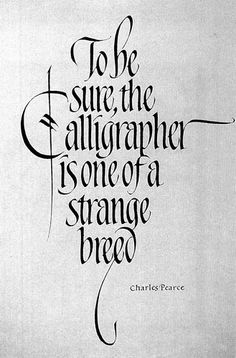 Calligrapher ~ Title #14 - Charles' work is SO beautiful!!!