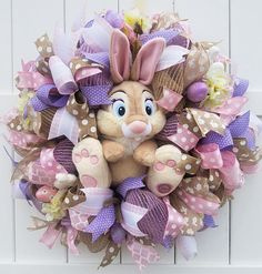 Miss Bunny Easter Wreath Miss Bunny Wreath Disney Easter