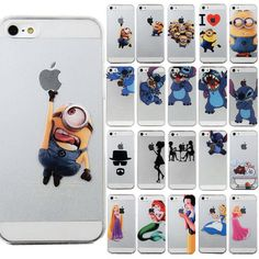 Princess Cartoon Disney Characters Transparent Case Cover For iPhone 5S 6 6 Plus