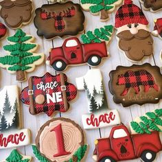 You may have seen me decorating these cookies in my insta-stories last week. I really enjoyed creating this lumberjack set! First Birthday Cookies, Baby Boy 1st Birthday, First Birthday Parties, Happy Birthday, Birthday Ideas, 40th Birthday, Lumberjack Cupcakes, Lumberjack Birthday Party, Baby Cookies