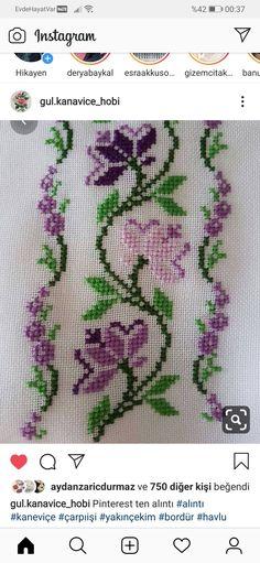 Cross Stitch Heart, Cross Stitch Borders, Cross Stitch Flowers, Cross Stitch Patterns, Folk Embroidery, Cross Stitch Embroidery, Easter Baskets, Needlework, Canvas