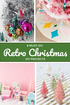 Retro Christmas DIY - Bille Honey-Dong - Retro Christmas DIY These vintage-inspired Christmas DIY projects are the perfect holiday crafts for anyone who loves retro style. Retro Christmas Decorations, Retro Christmas Tree, Modern Christmas, Diy Christmas Ornaments, Holiday Crafts, Christmas Time, Christmas Ideas, Betty Crocker, Baby Showers