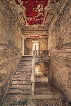 I love the red on the roof, abandoned stairs~Matthias Haker     http://matthiashaker.com/?gallery=architecture