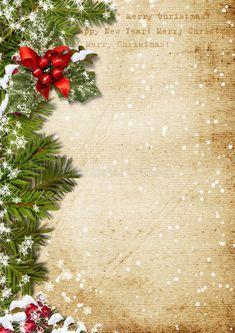 Christmas Border, Christmas Frames, Christmas Quotes, Christmas Art, Vintage Christmas, Christmas Decorations, Holiday Decor, Cute Christmas Backgrounds, Christmas Stationery