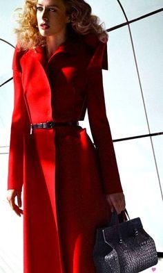 Red Coat.  Bottega Venetta