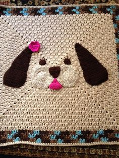My Lil Puppy blanket crochet baby blanket by KiddoCreation on Etsy