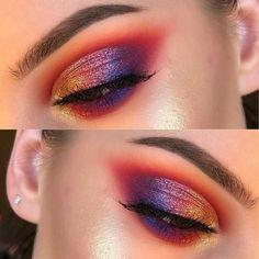 Sunset Makeup idea for Summer Make Makeup, Kiss Makeup, Glam Makeup, Makeup Art, Makeup Eyes, Makeup Trends, Makeup Inspo, Makeup Inspiration, Beauty Makeup Tips