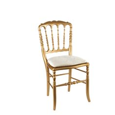 Gold Napolean Chair with ivory pad