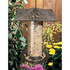 French Bronze 12 Inch Trumpet Vine Bird Feeder Whitehall Products Bird Feeders Bird Feeder