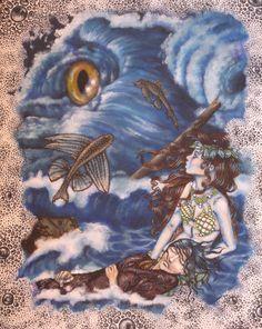 """Ilustração do conto """"A pequena sereia"""""""