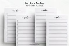 Notes To Do List MINI Happy Planner Insert Mini MAMBI