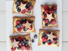Star-Studded Berry Tarts from Food Network Magazine