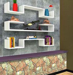 Violet 3 Wall Shelf, Bookcase, Shelf – Decor Living Room Shelf in Modern Design House Furniture Design, Home Decor Furniture, Pallet Furniture, Diy Home Decor, Tv Wall Decor, Cupboard Design, Living Room Shelves, Bedroom Bed Design, Wall Shelves Design