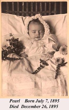I love post mortem photography, the last sweet image of of a life.