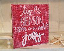Tis the Season Wood Sign, Christmas Wood Sign, Holiday Wood Sign, Chalkboard Style Christmas Wood Sign
