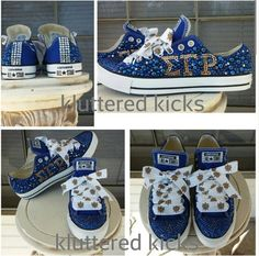62a3228dd93f Embellished Junk Chuck sby From Mi To You  shoes  converse  chucktaylor   bling  kids  girl  bow  pink  girlie  princess  flower  f…