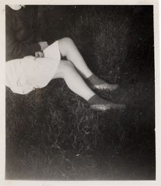 Skirt and legs, found photo.