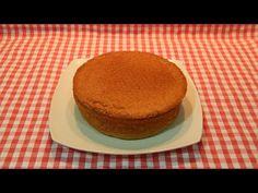 Bizcocho esponjoso de almendras ideal para tartas - YouTube