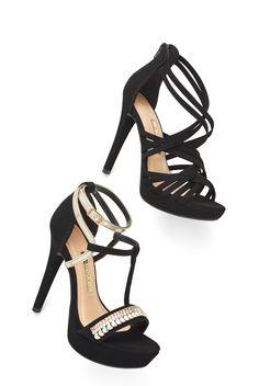 Sandálias - Tiras - Trend - Heels - Salto - Ref. 16-17801  | 16-17902